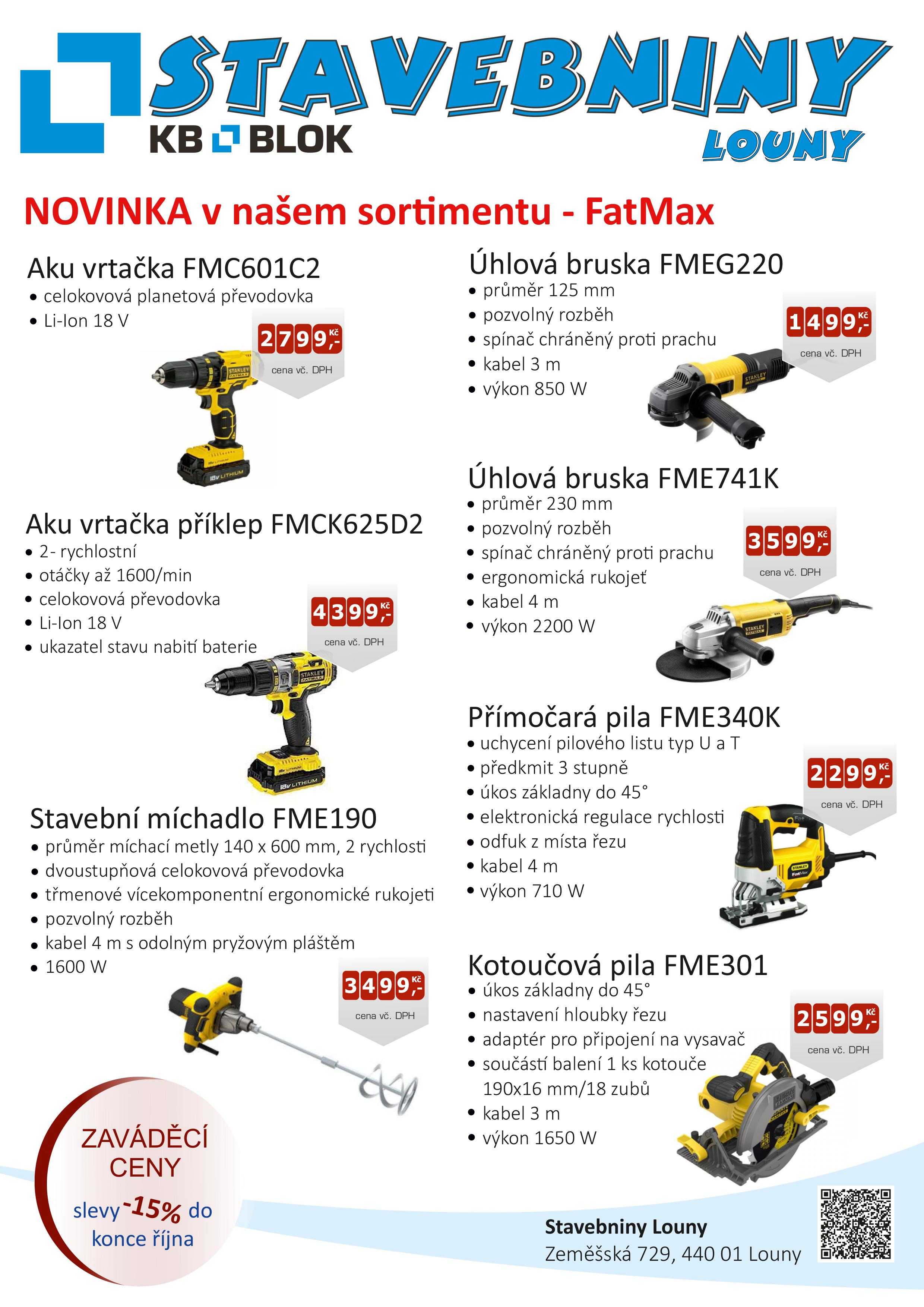 Nově u nás zakoupíte FATMAX!