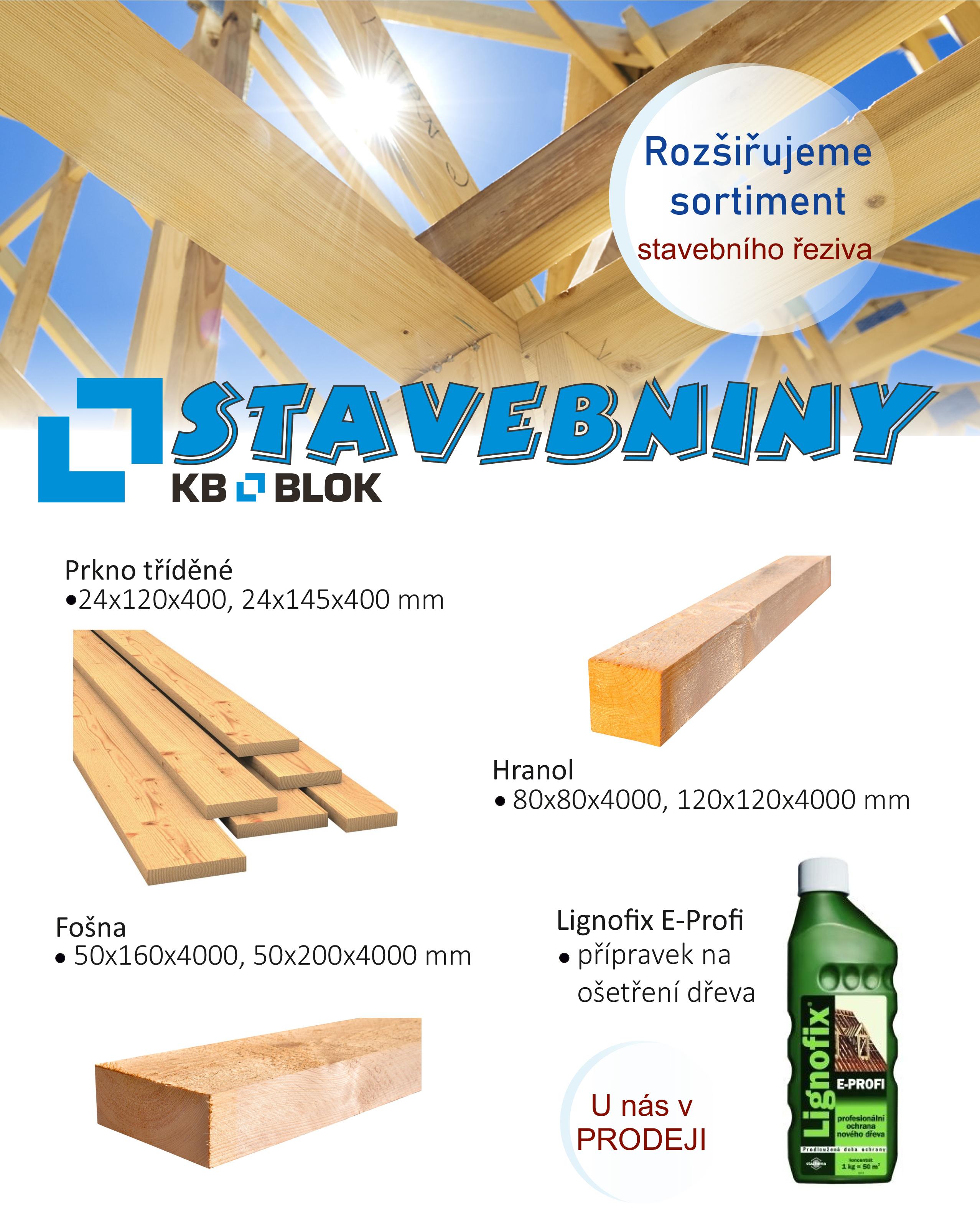 Rozšiřujeme sortiment stavebního řeziva