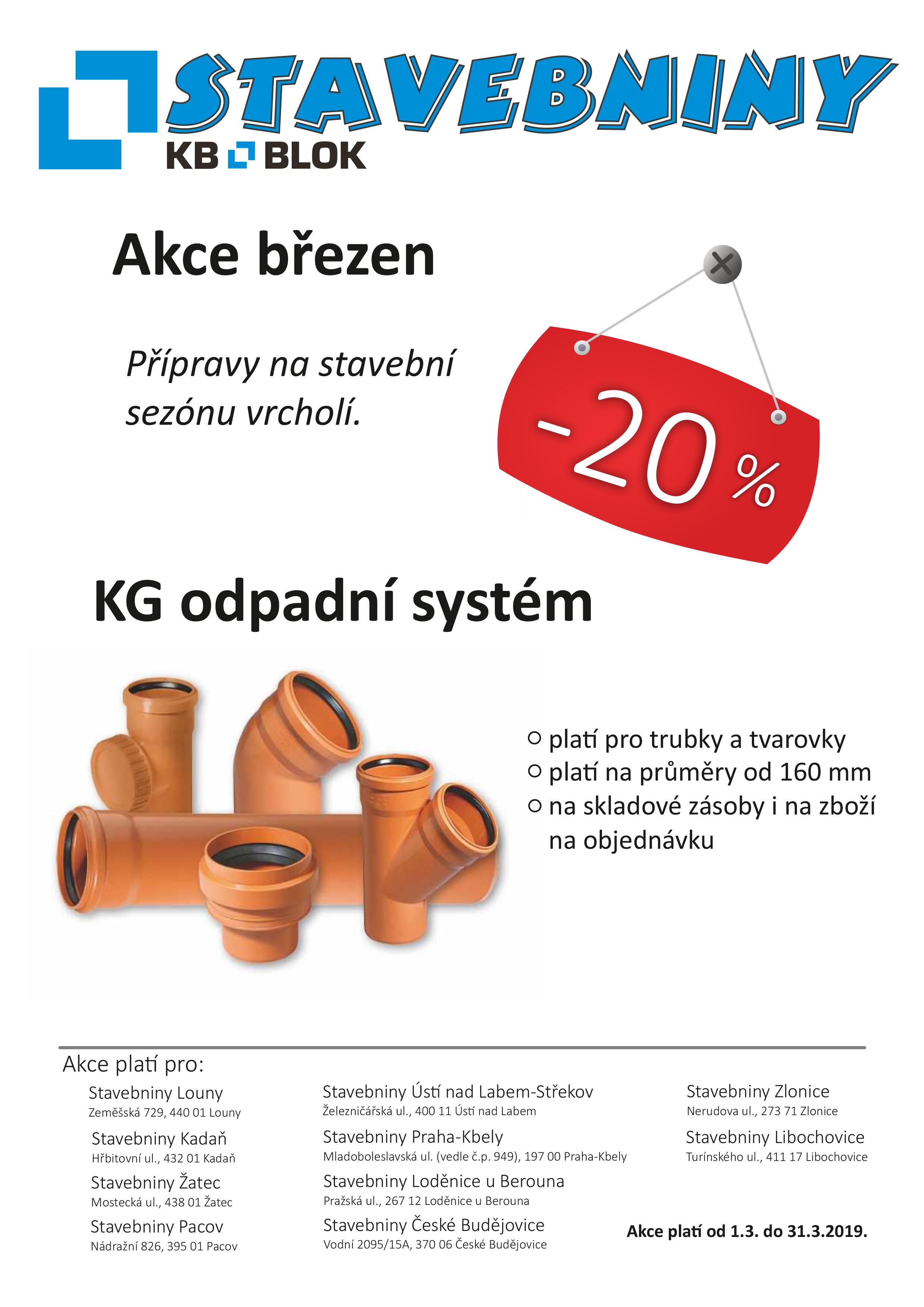 KG odpadní systém