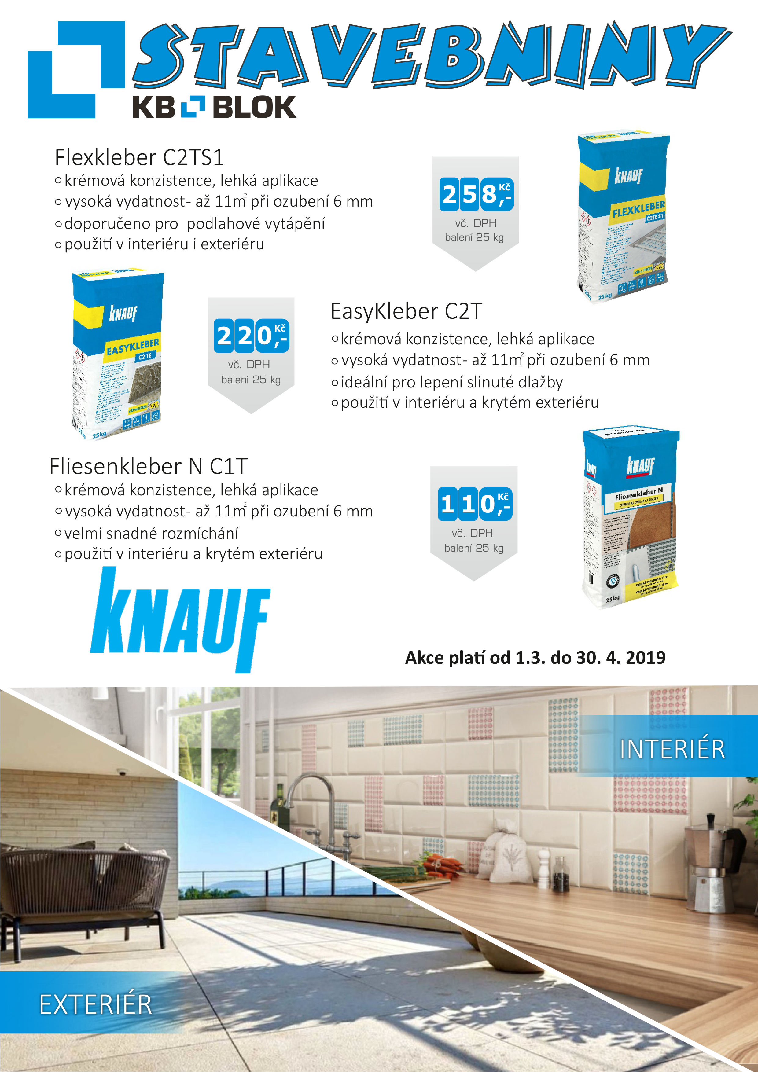 Lepidla KNAUF za akční ceny